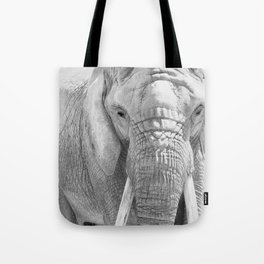 Elephant Photography | Wildlife Art | African | Nature | Animal Photography | Black and White Tote Bag
