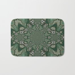 The Green Unsharp Mandala 8 Bath Mat