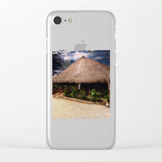 Beach House Clear iPhone Case