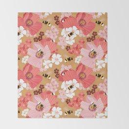 Bumblebees Pollinators Throw Blanket