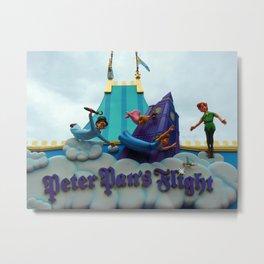 Peter Pan's Flight Metal Print