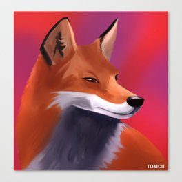 Fox Painting Canvas Print