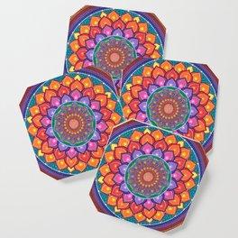 Lotus Rainbow Mandala Coaster