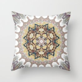 Cosmic Reflection Mandala Throw Pillow