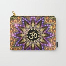 OM SHANTI Magic Lights Mandala Carry-All Pouch