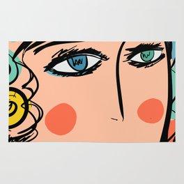 Nissa Girl Carnaval Portrait French Art Illustration Rug