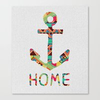 totes Canvas Prints featuring you make me home by Bianca Green