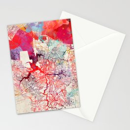 Norfolk map Virginia painting Stationery Cards