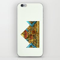 crown iPhone & iPod Skins featuring CROWN by TANGRAMMAR