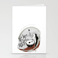 drum Stationery Cards featuring Drum dancers by Vilnis Klints
