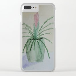 Bromeliad Plant Clear iPhone Case