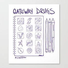Gateway Drugs Canvas Print