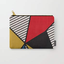 Primary Colors and Stripes Carry-All Pouch