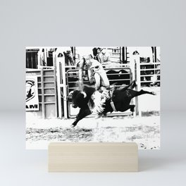 Rodeo Bull Rider Mini Art Print