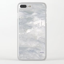 TEXTURES: Laguna Beach Sea Foam #1 Clear iPhone Case
