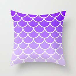 Modern Purple Scales Throw Pillow