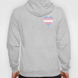 Transgender Flag Heart Trans Pride LGBTQ Equality Pun Gift Cool Humor Design Hoody