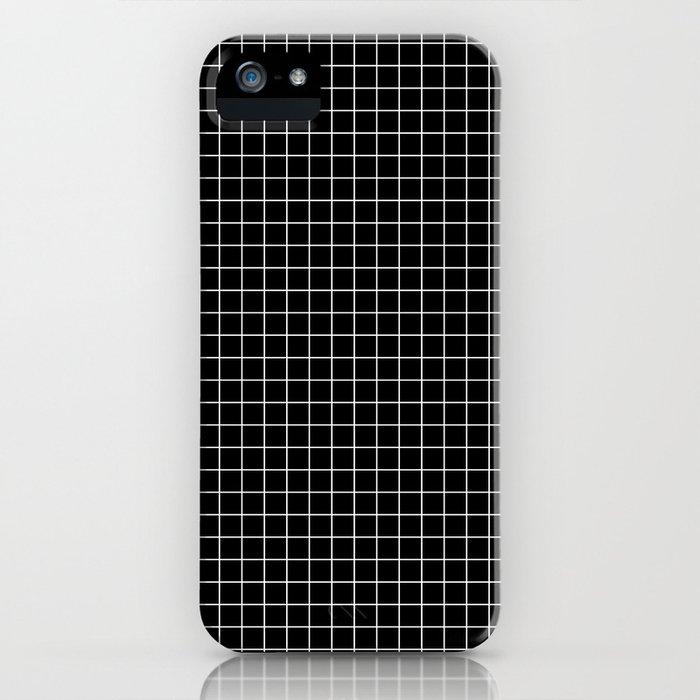Windowpane Black iPhone Case