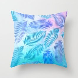 Feathers on Watercolor Background Throw Pillow