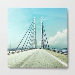 Bridge between countries Metal Print