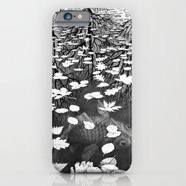 Escher- Three Worlds iPhone Case
