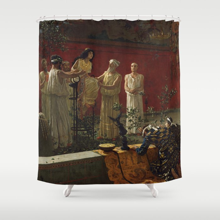 """The Oracle,"" Camillo Miola, 1880 Shower Curtain"