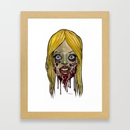 Heads of the Living Dead Zombies: Girl Parts Zombie Framed Art Print