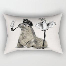 Pirate // seal parrot Rectangular Pillow