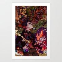 pacific rim Art Prints featuring Pacific Rim by Sophie'sCorner