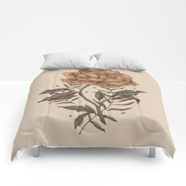 Peony and Ferns Comforters