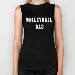 Volleyball Dad Quote Biker Tank