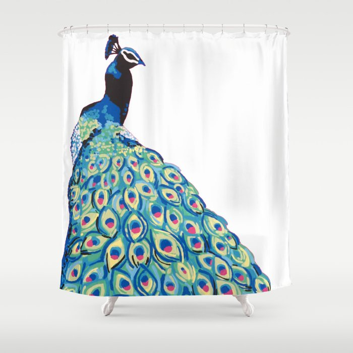 Peacock Shower Curtain By Meganmatthews