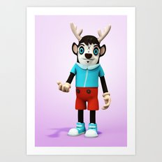 Ben my Deer! Art Print