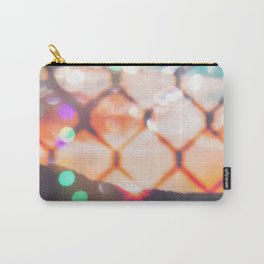 summer sunset sky over the mountain with bokeh light abstract Carry-All Pouch