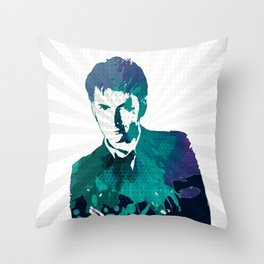 Tenth Doctor Color Splash Throw Pillow