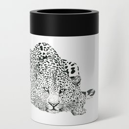Leopard Ink Painting (print) Can Cooler