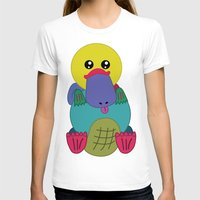 platypus T-shirts featuring Rainbow Platypus by Joy Deits