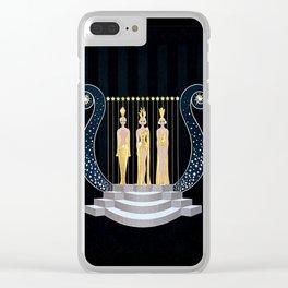 "Art Deco 1920's Illustration ""Lyre"" Clear iPhone Case"