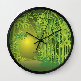 Bamboo forest scene Wall Clock