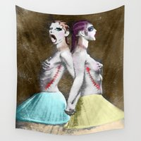 sisters Wall Tapestries featuring sisters by madild