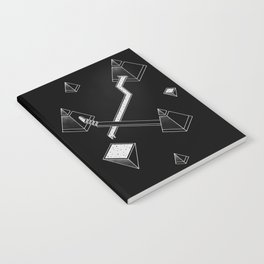 Black Space Pyramids Notebook