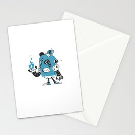 Fire Robot Stationery Cards