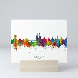 Iowa City Iowa Skyline Mini Art Print