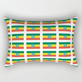 flag of Ethiopia 2-ኢትዮጵያ, የኢትዮጵያ ,Amharic,  Ethiopian, Addis Ababa. Rectangular Pillow
