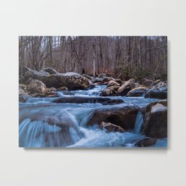 Creek in the Smoky Mountains Metal Print