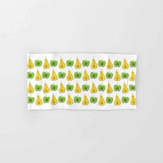 Apple and pear pattern Hand & Bath Towel