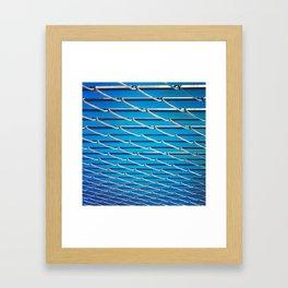 Blue Fence Framed Art Print