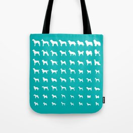 All Dogs (Aqua) Tote Bag