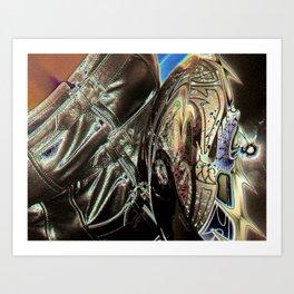 Biker Chick Art Print
