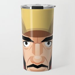 Robert Downey Jr, vector caricature Travel Mug